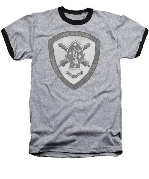 10th Marines Crest Baseball T-Shirt