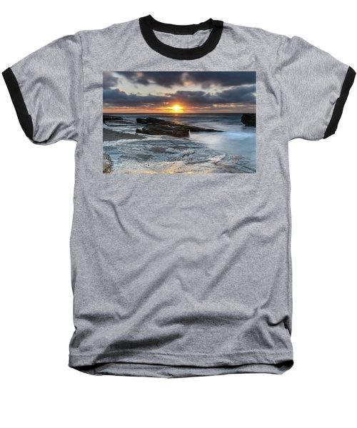 A Moody Sunrise Seascape Baseball T-Shirt
