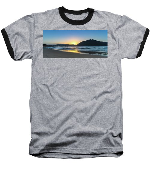Hazy Sunrise Seascape Baseball T-Shirt