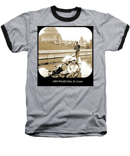1904 Worlds Fair, Sighteeing Boat, Oarsman And Couple Baseball T-Shirt