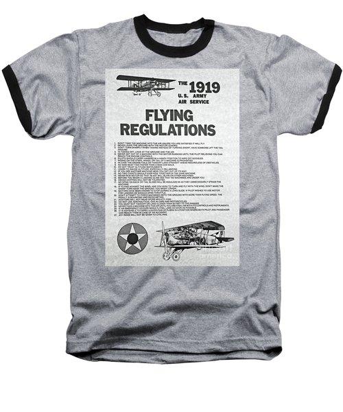 1919 Flying Regulations Poster Baseball T-Shirt