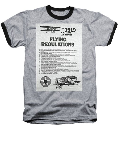 1919 Flying Regulations Poster Baseball T-Shirt