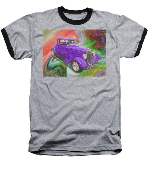 1934 Ford Colored Pencil Baseball T-Shirt