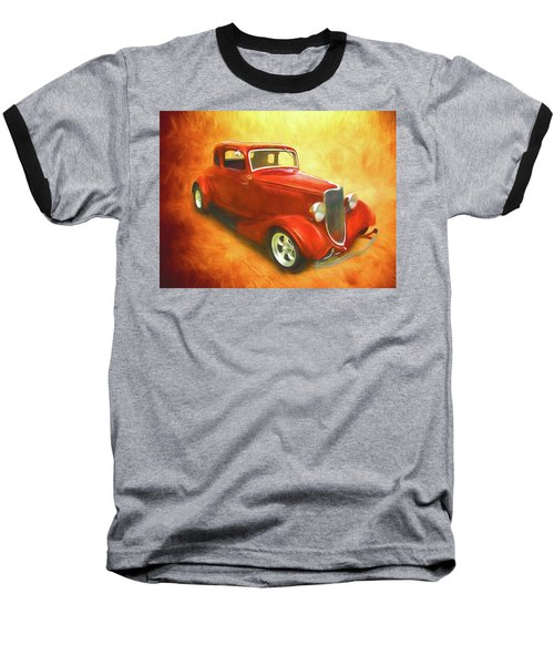 1934 Ford On Fire Baseball T-Shirt