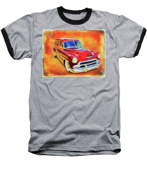 1951 Chevy Woody Baseball T-Shirt