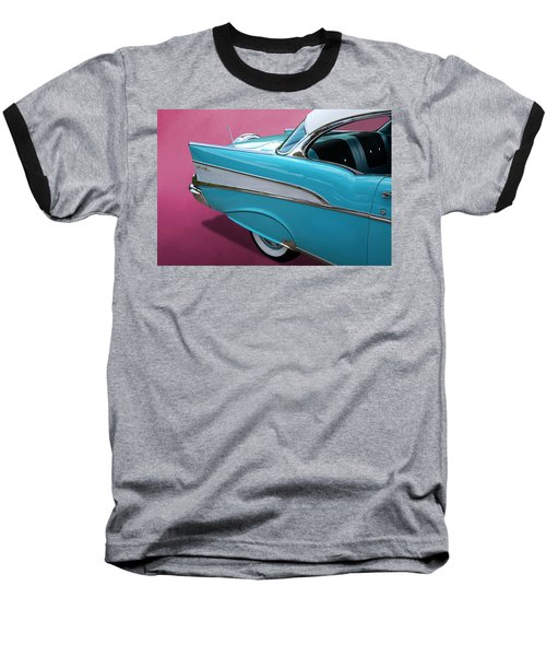 Turquoise 1957 Chevrolet Bel Air Baseball T-Shirt