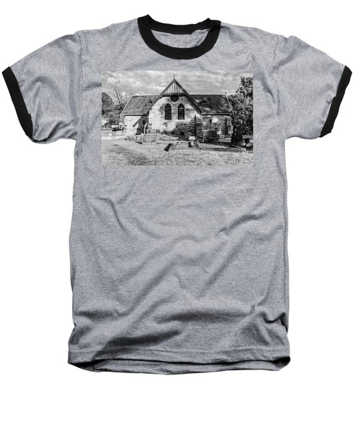 19th Century Sandstone Church In Black And White Baseball T-Shirt