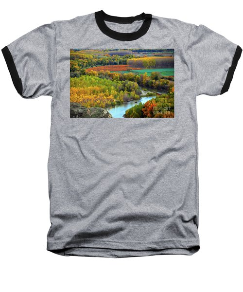 Autumn Colors On The Ebro River Baseball T-Shirt