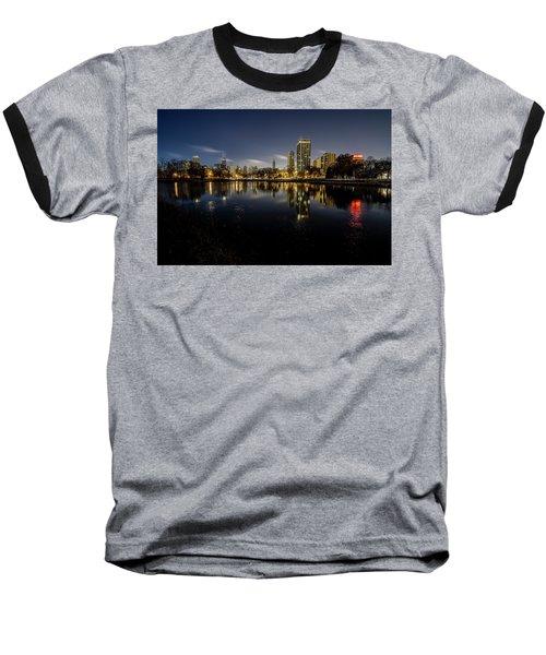 Chicago Skyline At Dawn  Baseball T-Shirt