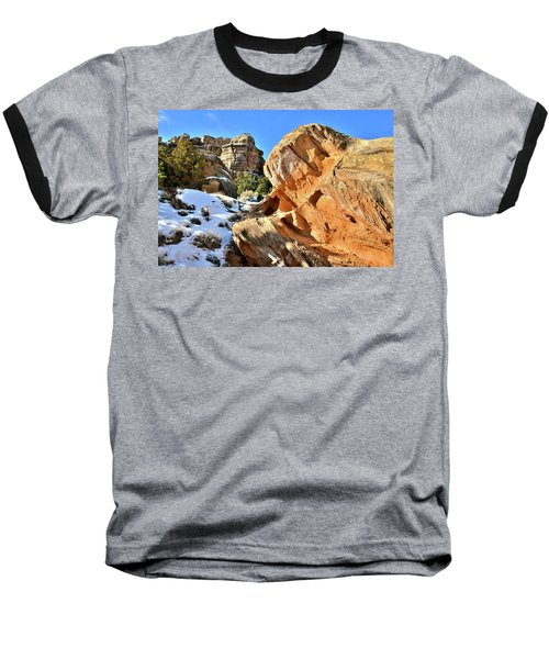Colorful Colorado National Monument Baseball T-Shirt