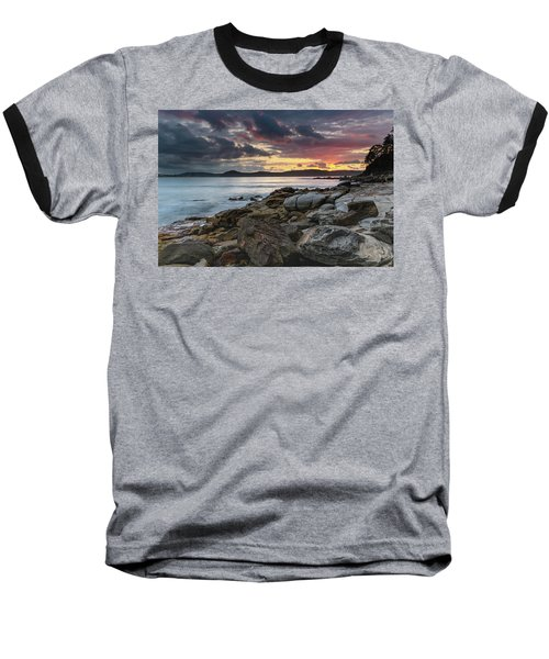 Colours Of A Stormy Sunrise Seascape Baseball T-Shirt