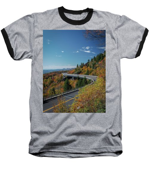 Linn Cove Viaduct - Blue Ridge Parkway Baseball T-Shirt