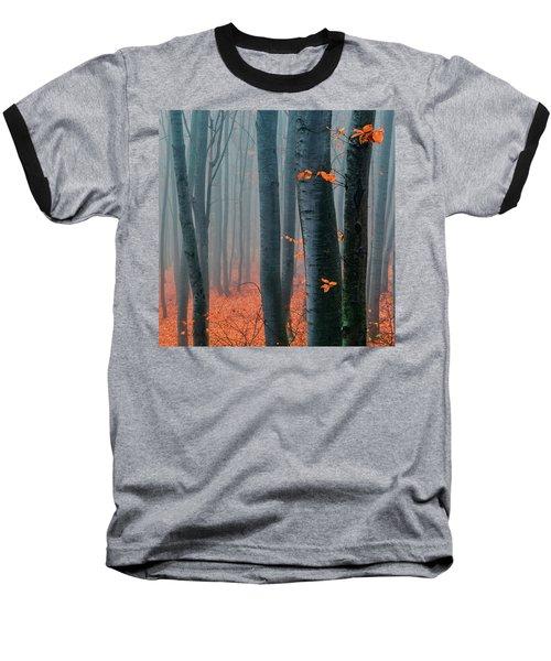 Orange Wood Baseball T-Shirt