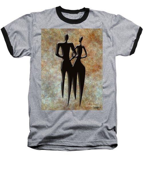 2 People Baseball T-Shirt