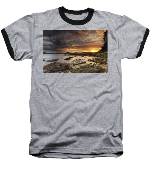 Stormy Sunrise Seascape Baseball T-Shirt