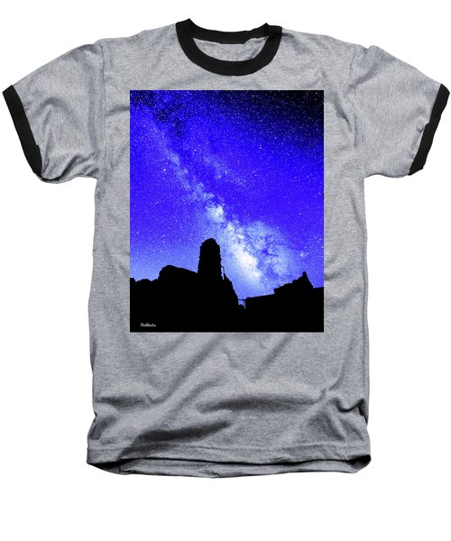 The Milky Way Over The Crest House Baseball T-Shirt