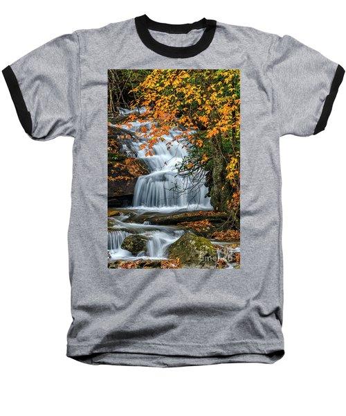Waterfall And Fall Color Baseball T-Shirt