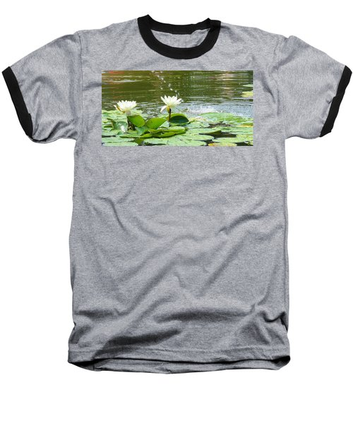 2 White Water Lilies Baseball T-Shirt