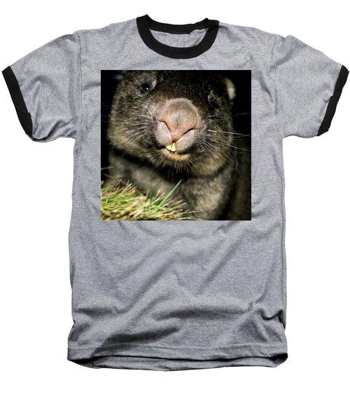 Wombat At Night Baseball T-Shirt