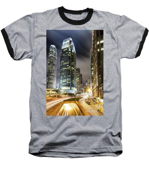 Hong Kong Night Rush Baseball T-Shirt