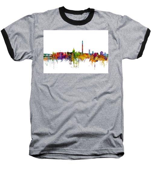 Washington Dc Skyline Baseball T-Shirt