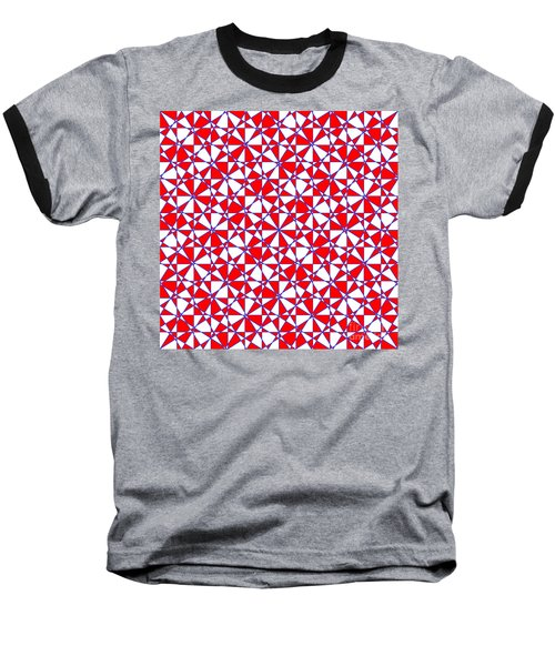 Crazy Psychedelic Art In Chaotic Visual Color And Shapes - Efg22 Baseball T-Shirt