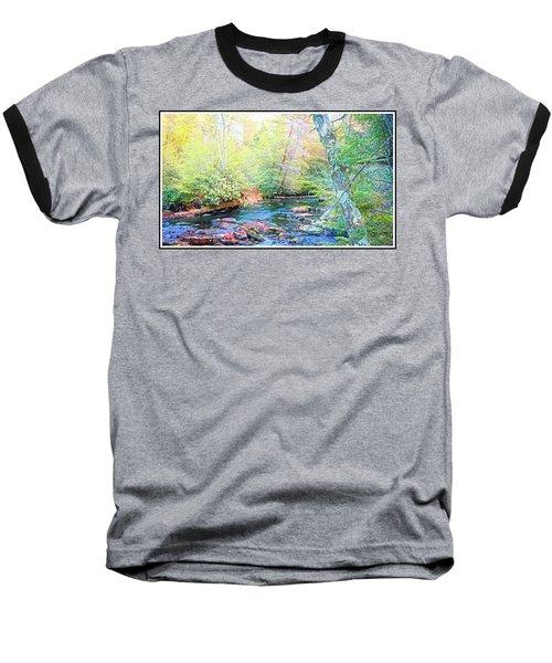 Pocono Mountain Stream, Pennsylvania Baseball T-Shirt