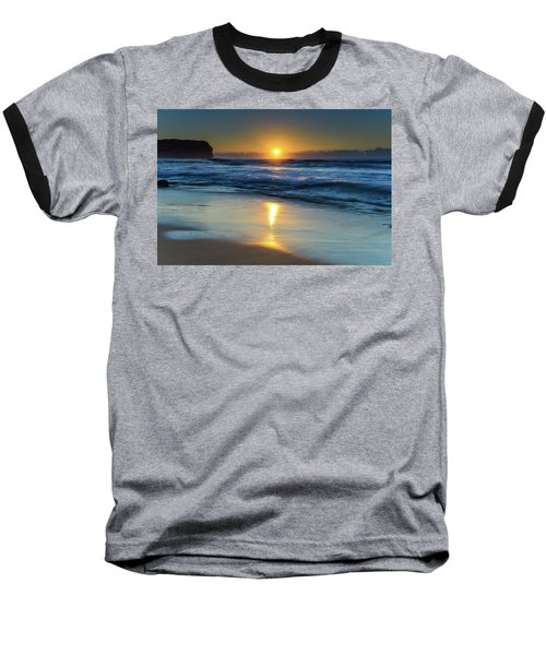 Sunrise Lights Up The Sea Baseball T-Shirt