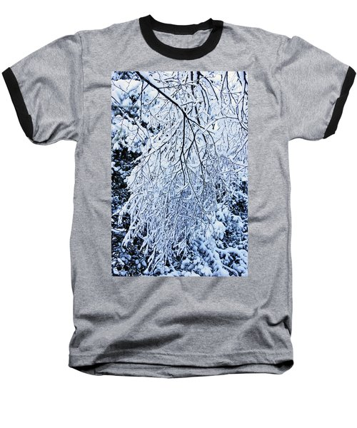 30/01/19  Rivington. Snow Covered Branches. Baseball T-Shirt