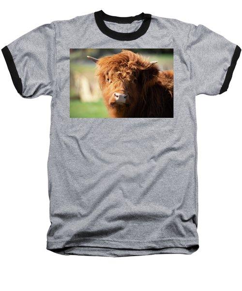 Highland Cow On The Farm Baseball T-Shirt