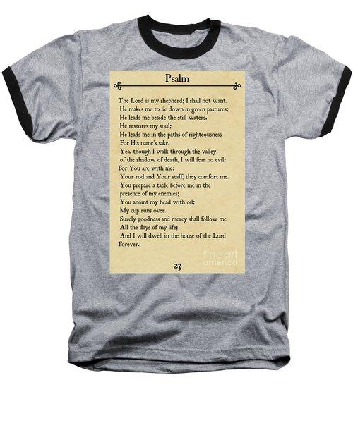 Psalm 23-bible Verse Wall Art Collection Baseball T-Shirt