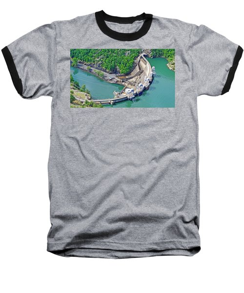 Smith Mountain Lake Dam Baseball T-Shirt