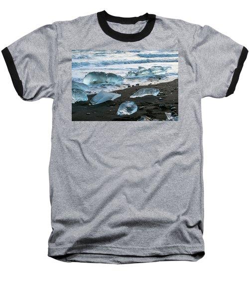 The Diamond Beach, Jokulsarlon, Iceland Baseball T-Shirt