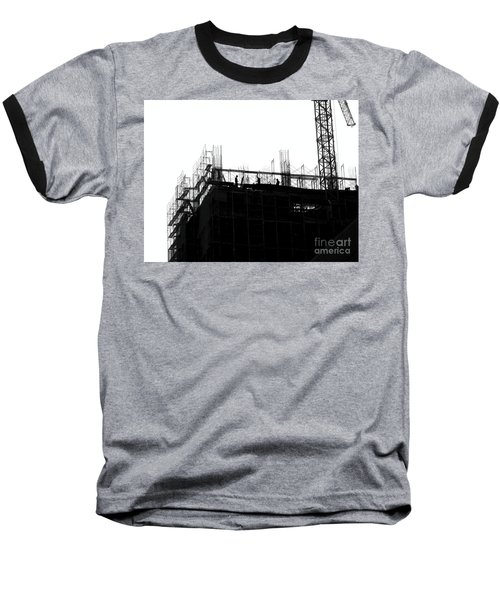 Large Scale Construction In Outline Baseball T-Shirt