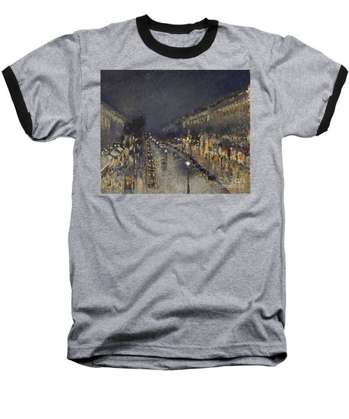 The Boulevard Montmartre At Night Baseball T-Shirt