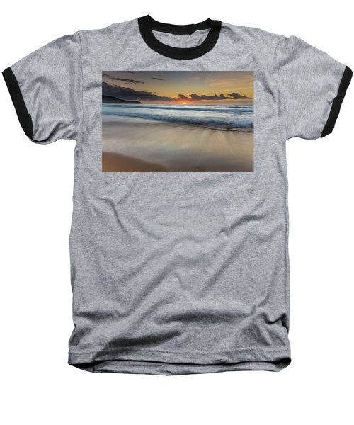 Sunrise Beach Seascape Baseball T-Shirt