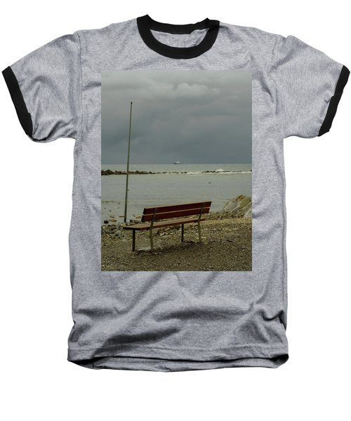 A Bench On Which To Expect, By The Sea Baseball T-Shirt