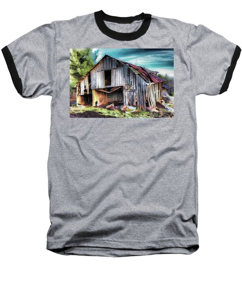A Classic Vintage Barn In The Blue Ridge Ap Baseball T-Shirt