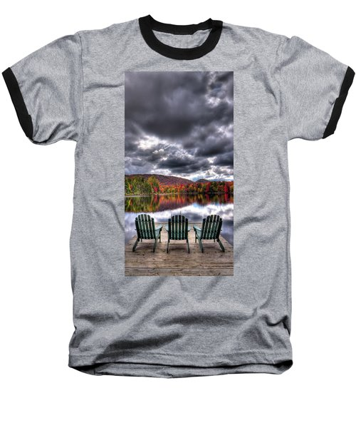 Baseball T-Shirt featuring the photograph A Fall Day On West Lake by David Patterson