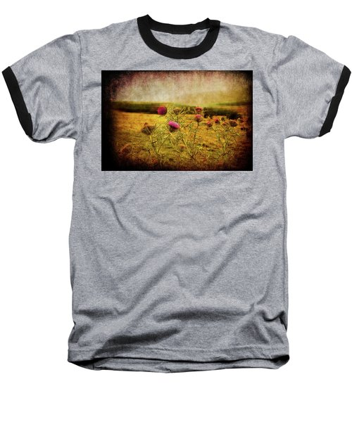 Baseball T-Shirt featuring the photograph A Field Covered With Mist by Milena Ilieva
