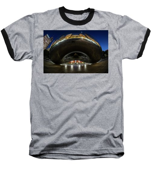 A Fisheye Perspective Of Chicago's Bean Baseball T-Shirt