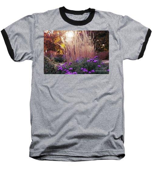 A Flower Bed In The Autumn Park Baseball T-Shirt
