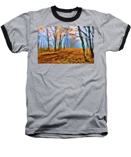 A Foggy Autumn Blue Ridge Morning Ap Baseball T-Shirt