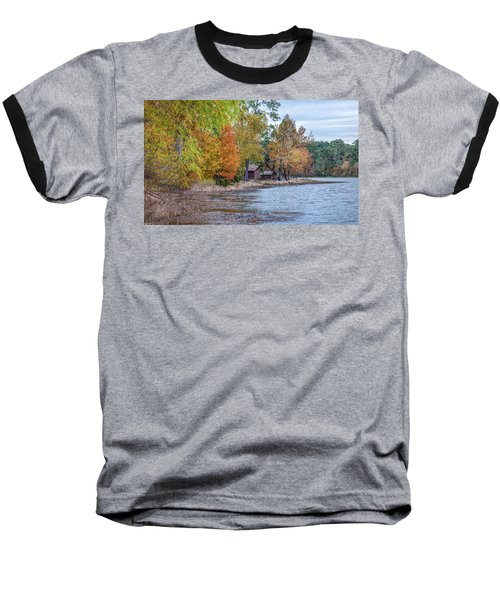 Baseball T-Shirt featuring the photograph A Peaceful Place On An Autumn Day by James Woody