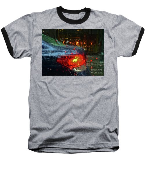 A Rainy Day In Nyc Baseball T-Shirt