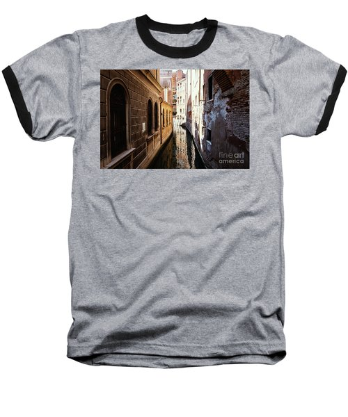 A Shadow In The Venetian Noon Narrow Canal Baseball T-Shirt
