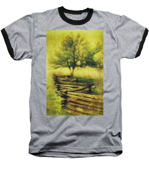 A Shady Tree On A Foggy Day Fx Baseball T-Shirt