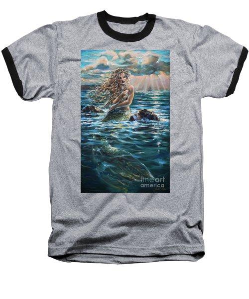 A Ship In The Distance Baseball T-Shirt