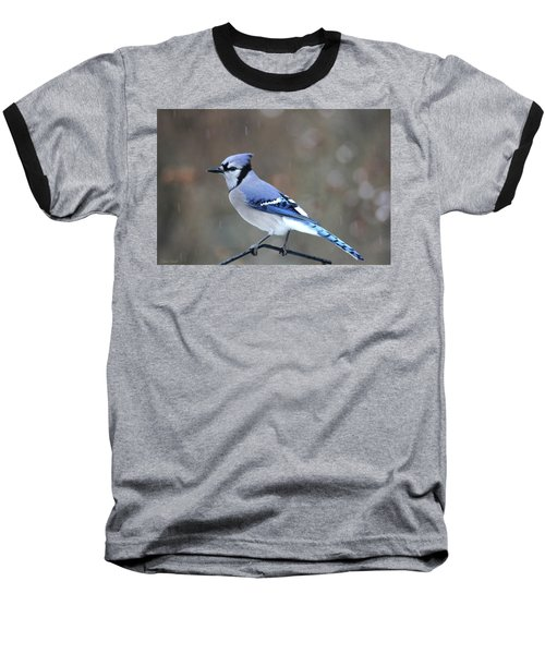 A Snowy Day With Blue Jay Baseball T-Shirt