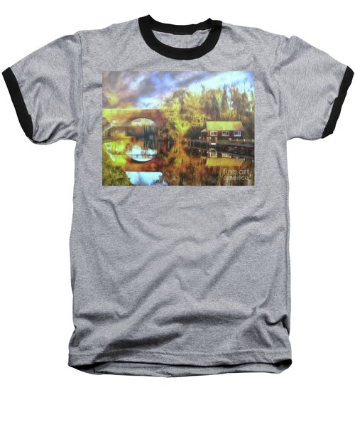 Baseball T-Shirt featuring the photograph A Stop Along The Wey by Leigh Kemp
